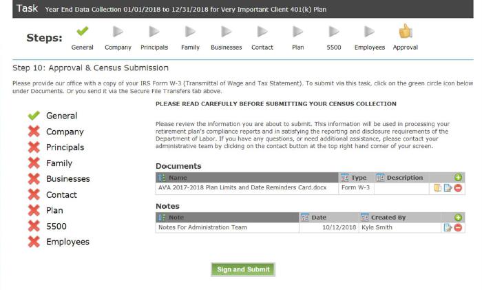 Task approval screenshot