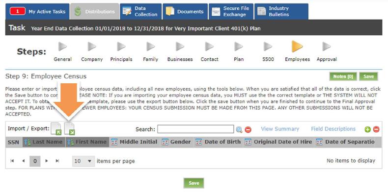 census template download screenshot